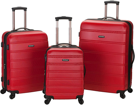 Rockland Melbourne Abs Luggage Set