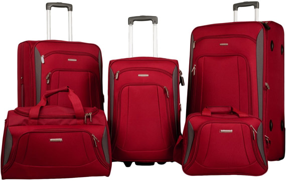 Merax 5 Piece Luggage Set
