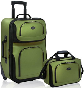 US Traveler Rio Expandable Carry-On Luggage Set